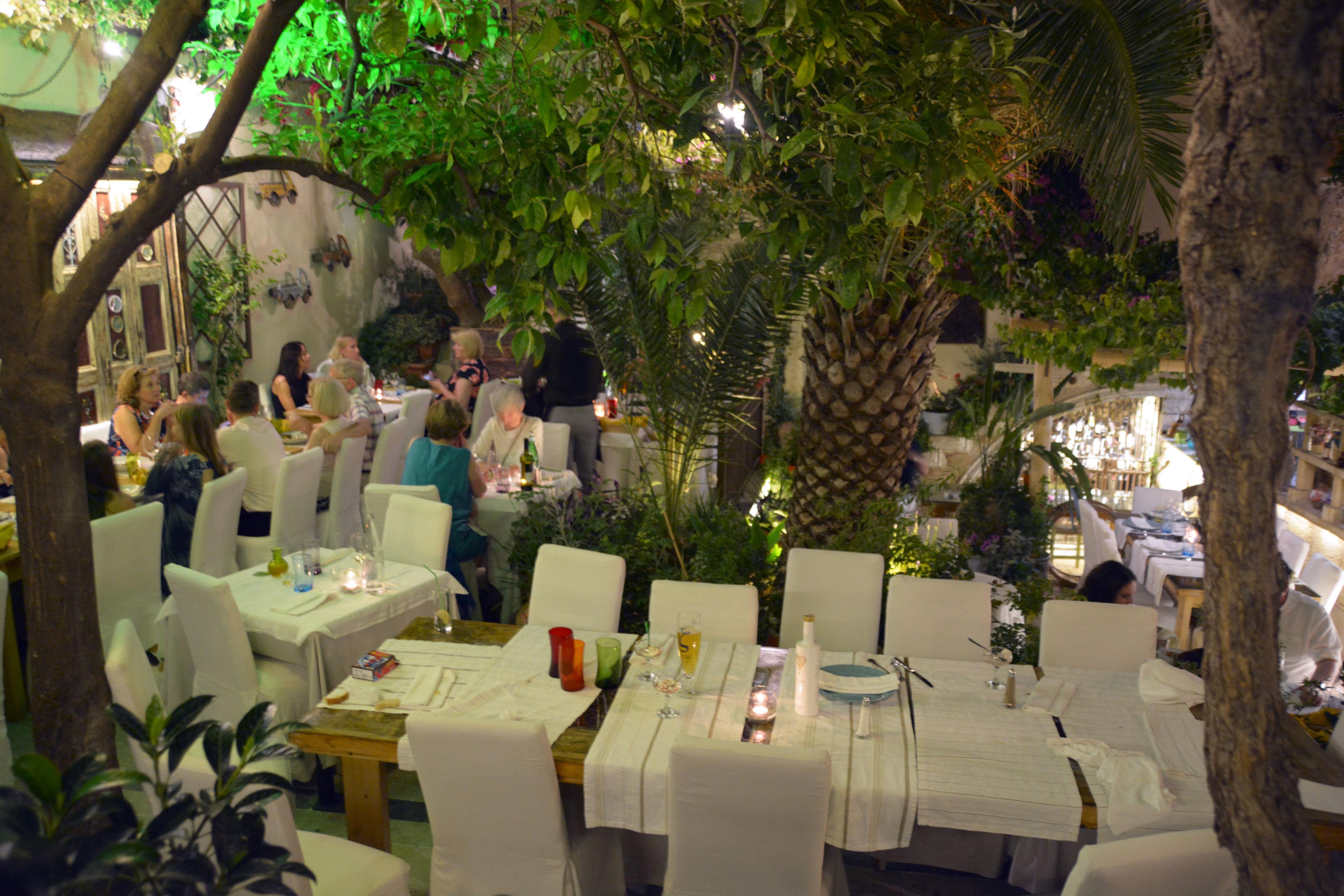 Large Dining Room Set Avli In Rethymnon Cretan Dining Defined Travel Greece