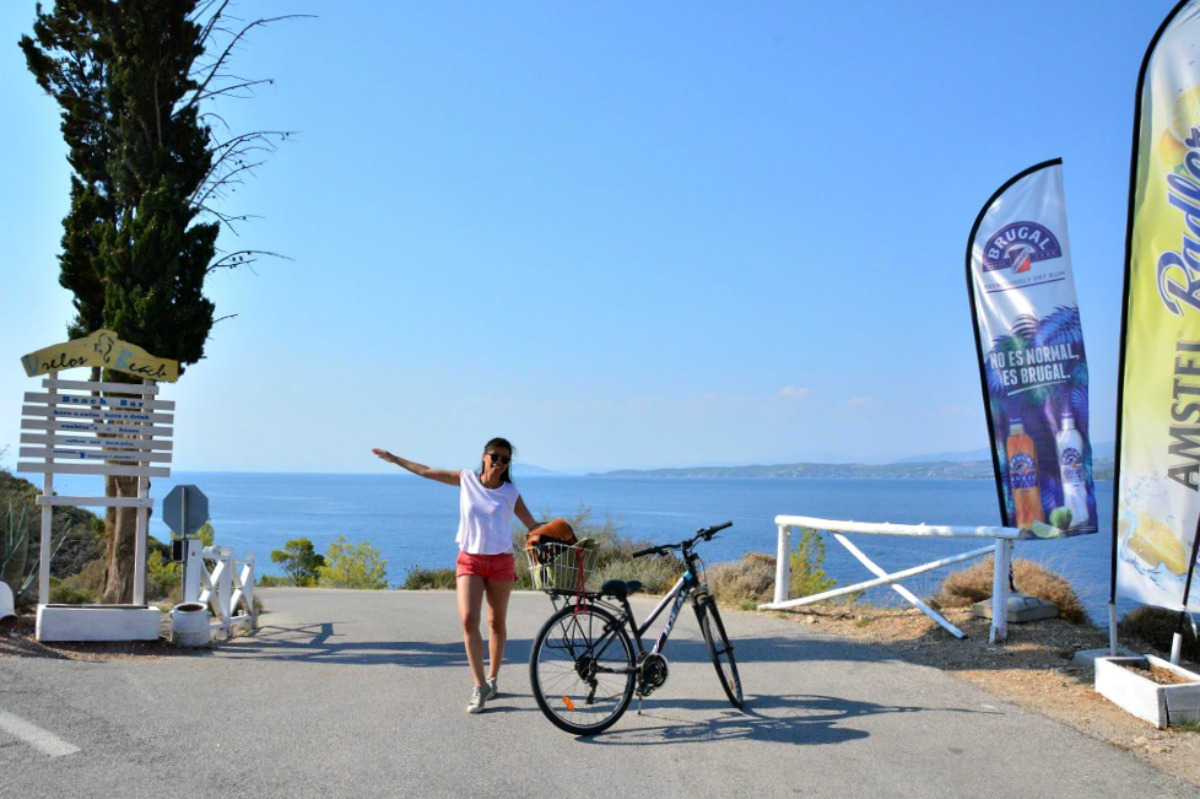 Biking to the Beaches of Spetses